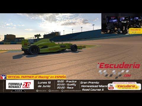 Iracing   iEscuderia   La carrera de los lunes   Homestead Miami Road   Formula Renault 2.0