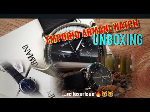 EMPORIO ARMANI AR11105 CHRONOGRAPH WATCH UNBOXING; So Luxurious🔥😁💯👌🏾