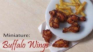 Miniature Buffalo Wings & Fries - Polymer Clay Tutorial
