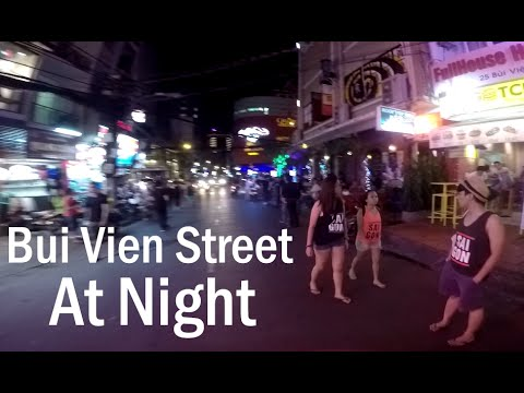 Bui vien street, ho chi minh city vietnam at night