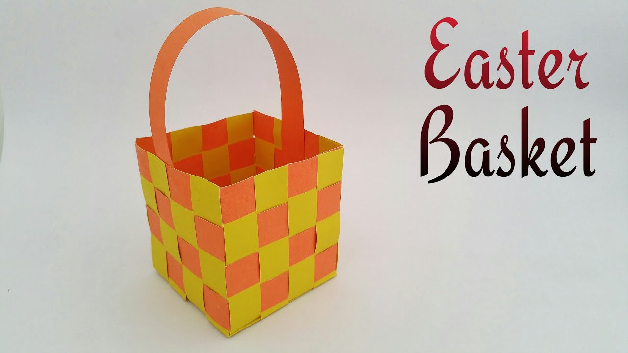 How To Make A Woven Easter Basket : Easter basket woven diy tutorial by paper folds