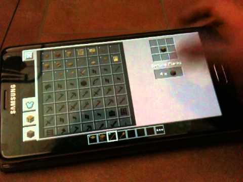 minecraft pe comment crafter une p e une pioche une hache et une pelle youtube. Black Bedroom Furniture Sets. Home Design Ideas