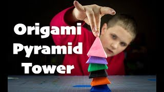 Origami Pyramid Tower (Exploding): How to fold