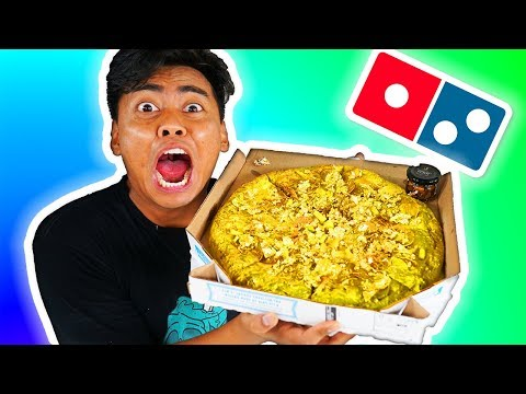 Ordering The Golden Pizza From Domino's Secret Menu!