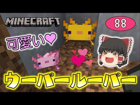 【Minecraft】ウーパールーパー超可愛い!バージョン1.17到来で新要素満載!ゆっくり達のマインクラフト part88