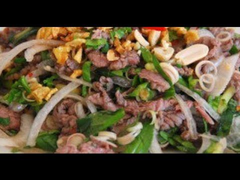 How to make Vietnamese Beef Salad in Lime Juice Cach Lam BO TAI CHANH