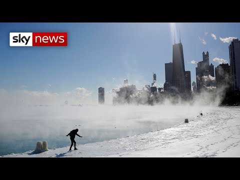 Record-breaking freeze halts US