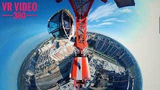 На высоте. Симулятор крановщика. VR video. 360 video tower crane