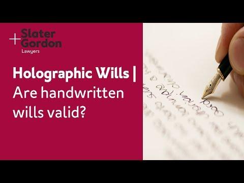 Holographic Wills | Are Handwritten Wills Valid?
