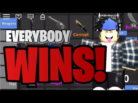 ROBLOX MURDER MYSTERY 2 GIVEAWAY / EVERYBODY GETS A GODLY!