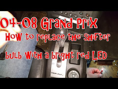 04-08 Pontiac Grand Prix – How to replace the shifter bulb with a bright red LED