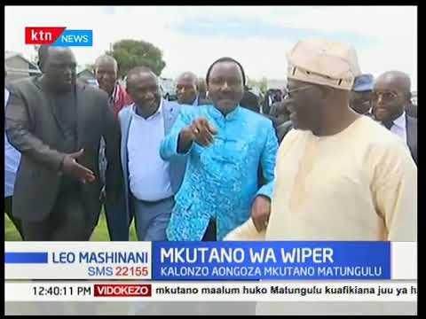 Kinara wa Wiper Kalonzo Musyoka aongoza mkutano Matungulu