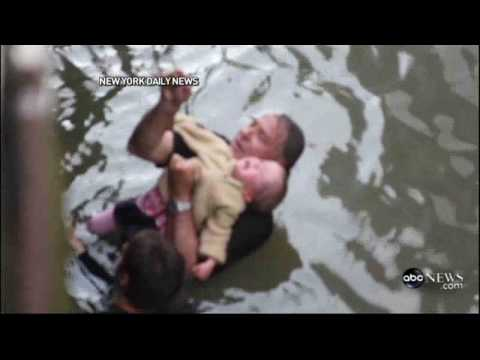 !!FATHER SAVES 2-YEAR-OLD AFTER SHE SLIPPED AND FELL INTO NEW YORK'S EAST RIVER!!