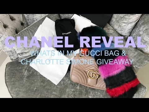 CHANEL UNBOXING  WHATS IN MY GUCCI MARMT BAG  CHARLOTTE SIME  GIVEAWAY  IAM CHOUQUETTE