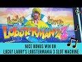 NICE BONUS WIN ON LUCKY LARRY'S LOBSTERMANIA 3 SLOT MACHINE - IGT GAME - SunFlower Slots