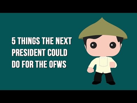 The Philippine Presidency and OFWs