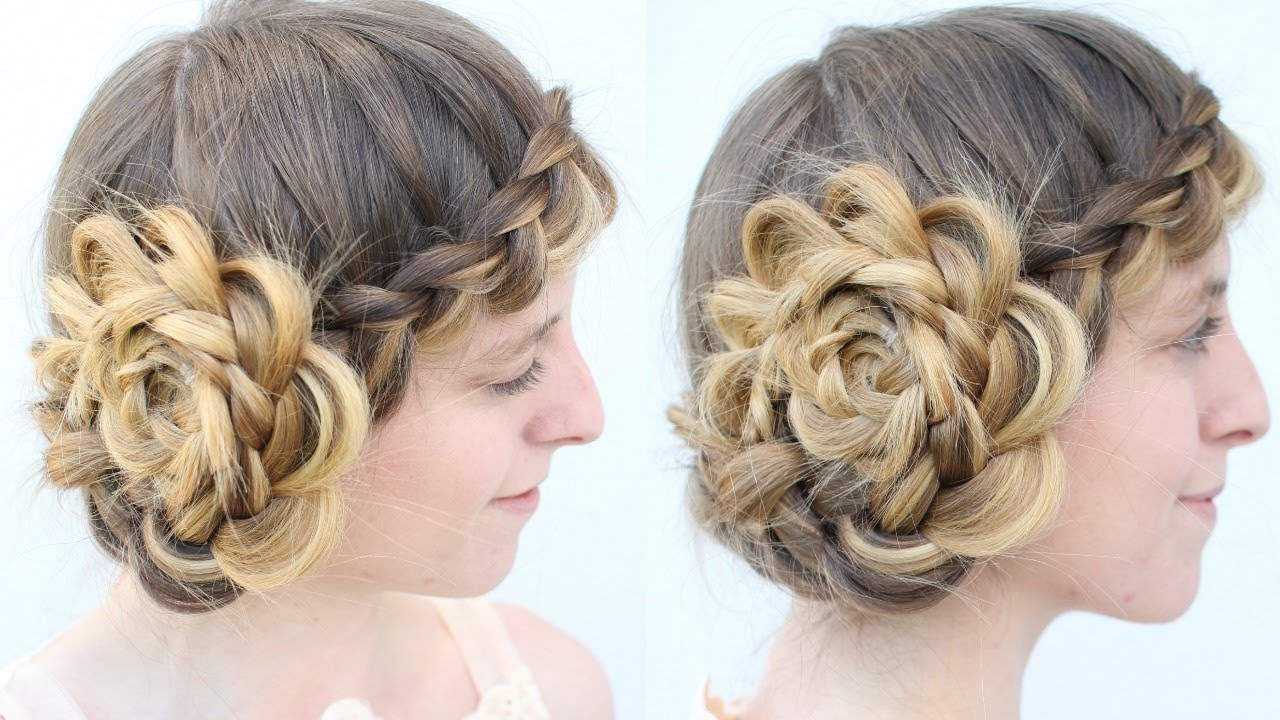 Vintage Inspired Braided Hat Hairstyle Halloween Hairstyles