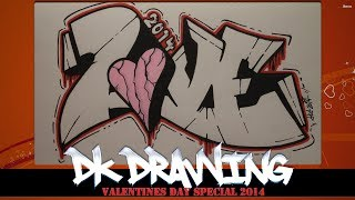 How to draw Graffiti Love (Valentines Day Special)