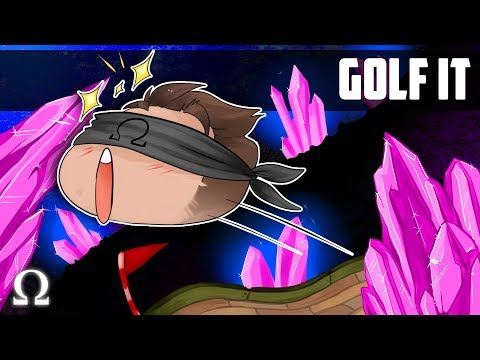 CRAZY CRYSTAL CAVERNS MINI-GOLF! |  Golf It Funny Moments #17 Ft. Mini, Jiggly, Gassy