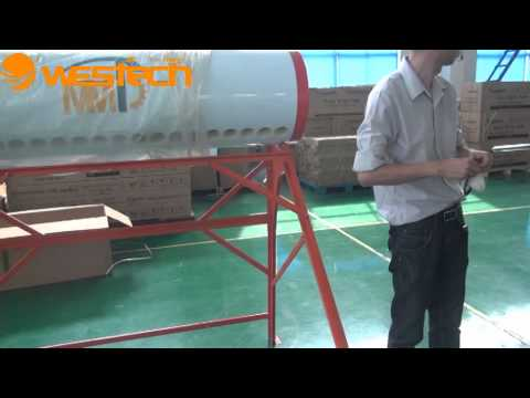 Westech Solar Compact Non pressurized Solar Water Heater Installation