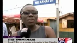 Street Naming Exercise - Joy News @ 8 (29-9-14)