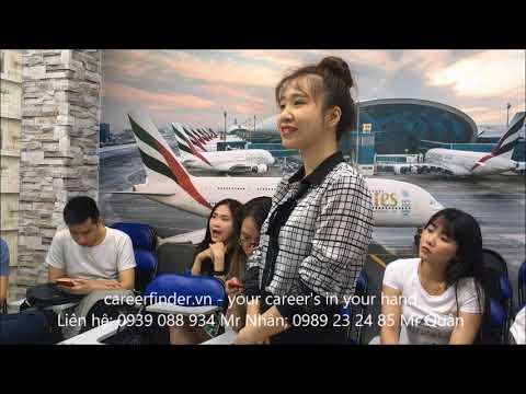 Tập luyện Talent show phỏng vấn tiếp viên hàng không Vietjet Air