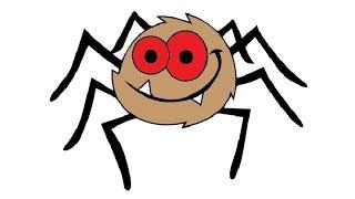 How to Draw a Cartoon Spider Easy step by step / Как нарисовать паука