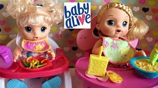 Baby Alive SWEET TEARS PEES HER PANTS AFTER FEEDING with NOODLE BABY