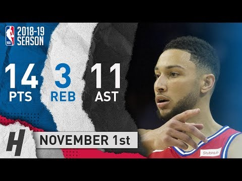 Ben Simmons Full Highlights 76ers vs Clippers 2018.11.01 - 14 Pts, 11 Ast, 3 Rebounds!