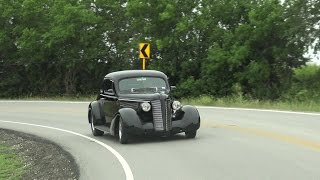 1937 Buick Coupe triple deuce 383 stroker hot rod test drive with Samspace81