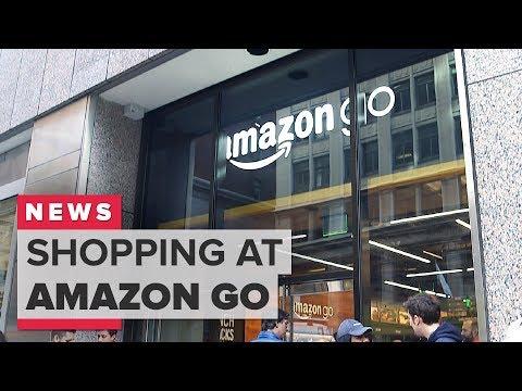 Shopping at Amazon Go in San Francisco