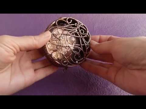 Wire copper jewelry box - wire sculpture
