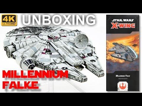 Star Wars X-Wing 2. Edition: Millennium Falke - WELLE 4 - Unboxing - Millennium Falcon (4K)