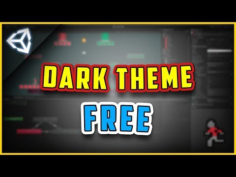 How To Get Unity Dark Theme/Skin For Free [Unity3d 2017.1.0F3] For Personal License tutorial