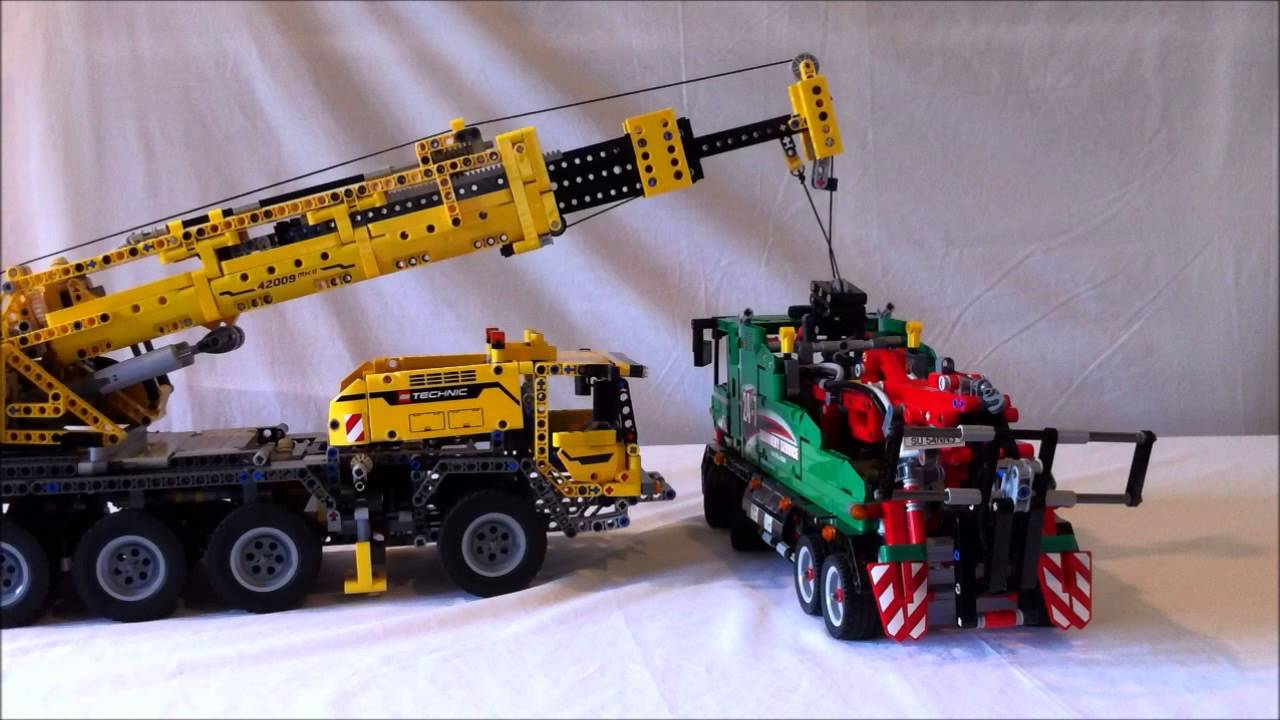 lego technic 42008 service truck fail lift by 42009. Black Bedroom Furniture Sets. Home Design Ideas