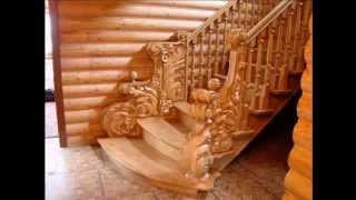 Деревянные лестницы. - Wooden ladders.(Перила из нержавеющей стали на заказ вы найдёте на сайте - http://stalkol.com.ua/perilastal-a.php Огромный выбор и низкие..., 2015-04-13T16:36:09.000Z)
