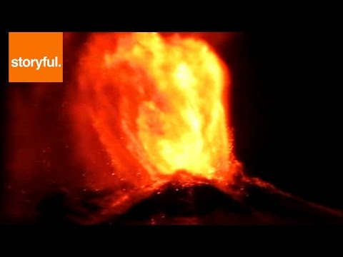 Villarrica Volcano ERUPTING At Night