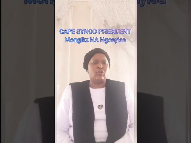 Cape Synod President - Monglkz N.A Ngcayisa (Intshumayelo 2020-2021)