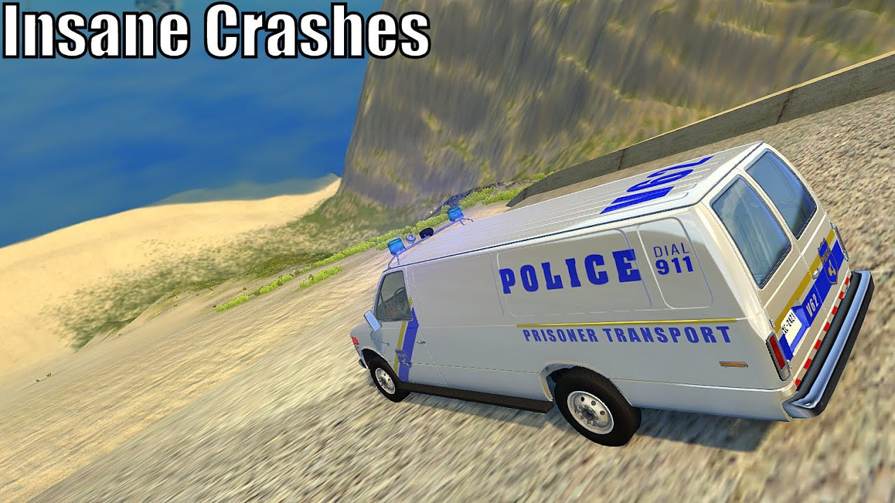 Descent Down The Stairway Mountain (Insane Crashes) #3 - BeamNG drive Huge Ramp Insane Crashes