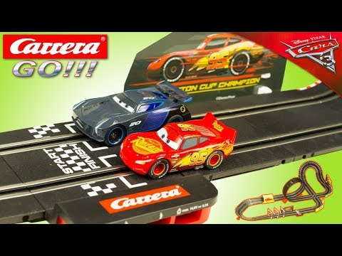 Carrera Go Cars 3 Circuit Voitures Flash McQueen Jackson Storm Jouet Toy Review