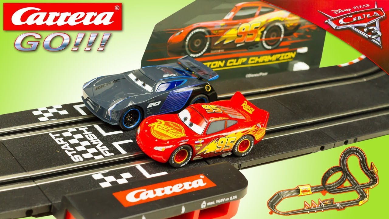 Cars 3 Jackson Storm Jouet Carrera Go Cars 3 Fast Not Last Slot Car Track Lightning Mcqueen Jackson Storm Toy Review Juguetes
