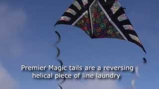 Premier Magic Kite Tail on Eleven Foot Peace Delta Kite Thumbnail