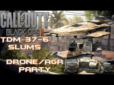 Black Ops II: TDM - Slums 37-6: Drone/AGR Party!