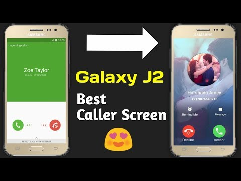Best Caller Screen For Galaxy J2 & J2 PRO | Amazing Caller ID 😍