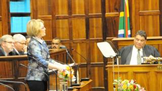 Western Cape Premier Helen  Zille give State of the Province Address6