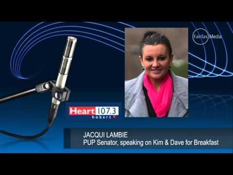 senator Jacqui Lambie boards the Oversharing Express on radio station Heart 107.3
