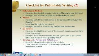 RCTD Academic Writing  Workshop -Video on Writing for Publishing