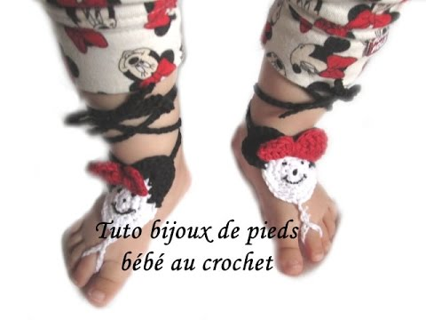 Tuto crochet sandales bijoux de pieds bebe minnie crochet - Bijoux au crochet modele gratuit ...