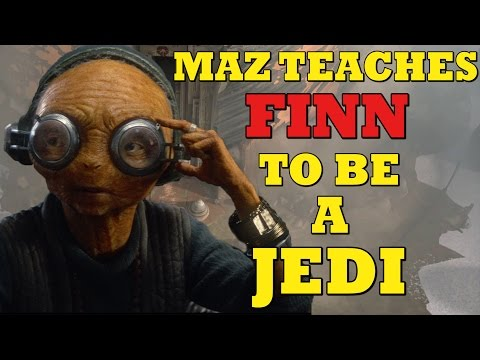 Star Wars Episode 8 : Maz Kanata Teaches Finn The Way