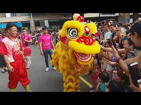 Singapore Tian Eng Lion Dance On High Pole performances at Sentosa Singapore on Day 2 of CNY 17/2/18